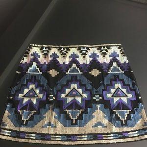 🌟EXPRESS XS Mini Sequin Skirt
